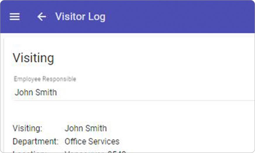 Screenshot Visitor Control
